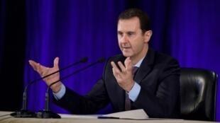 صورة نشرتها وكالة سانا للرئيس السوري بشار الأسد في دمشق في 15 شباط/فبراير 2016