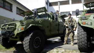 Présentation du matériel militaire chinois fourni au gouvernement argentin pour le G20 à Buenos Aires les 31 novembre et 1er décembre 2018.