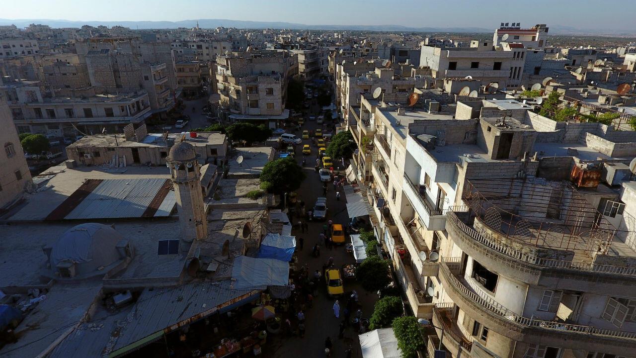 مدينة إدلب في يونيو/حزيران 2017.