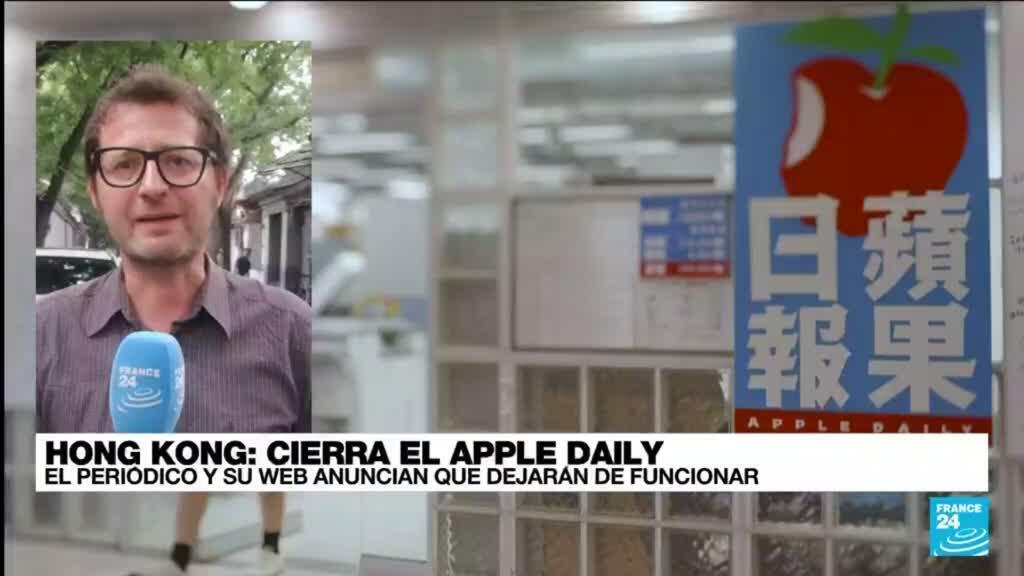 2021-06-23 14:02 Informe desde Beijing: el periódico prodemocracia Apple Daily confirma su cierre