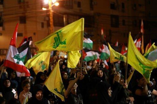 مناصرون لحزب الله في احتفال في بيروت، 31 أيار/مايو 2019