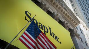 Snap.Co, la maison-mère de Snapchat, est entrée en Bourse en mars 2017.