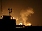 Israel strikes Gaza and Syria after Palestinian rocket attacks