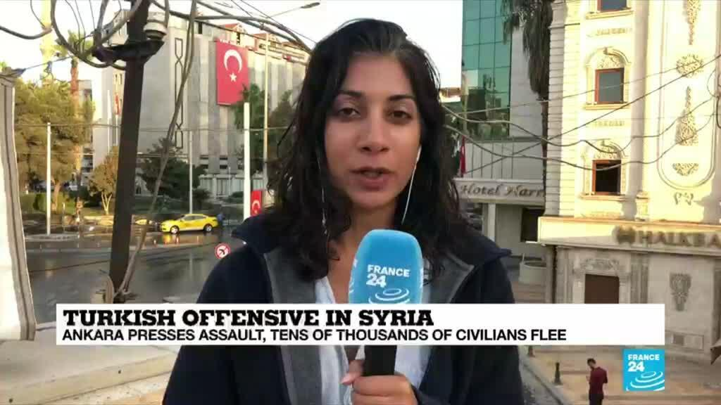 2019-10-11 09:02 EN NW GRAB TURKEY SYRIA KURDS OFFENSIVE WAR BORDER OPERATION SHONA BJATTACHARYYA CORRESPONDENT AKCAKALE