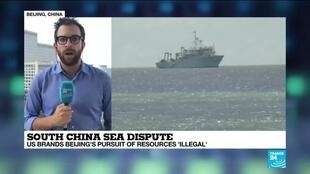 2020-07-14 12:41 US brands Beijing pursuit of resources in South China Sea 'illegal'