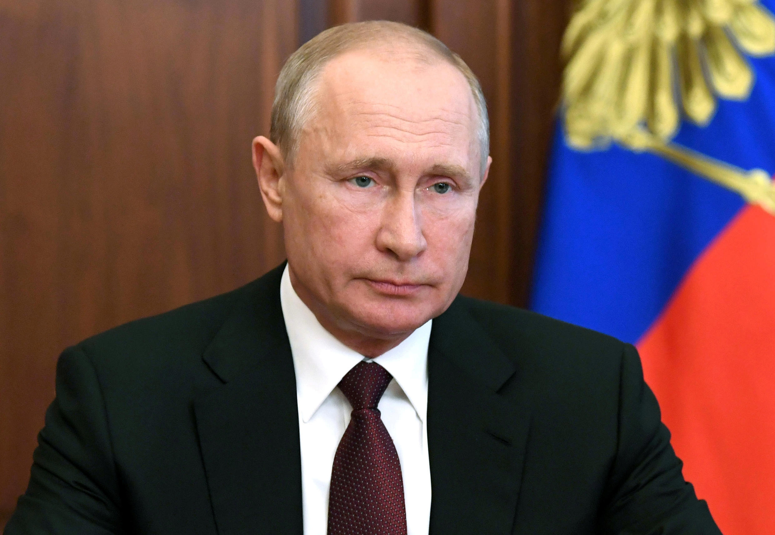 Russia's President Vladimir Putin delivers a televised address to the nation in Moscow, Russia June 23, 2020.