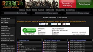 Capture d'écran du site Dpstream