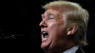 El presidente de EE. UU., Donald Trump, hablando durante un acto de campaña en Springfield, Missouri. 21 de septiembre de 2018.