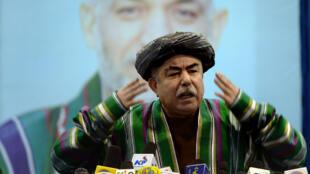 Le vice-président afghan Abdul Rashi Dostum à Kaboul , le 22 mai 2014.