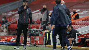 Angry words were exchanged between Jurgen Klopp and Frank Lampard in Liverpool's 5-3 win over Chelsea on Wednesday
