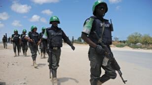 Des soldats de l'Union africaine à Mogadiscio, en Somalie.