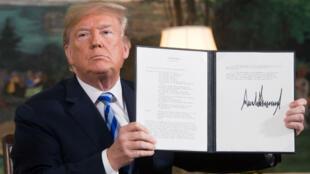 Donald Trump a remis en place les sanctions contre l'Iran et invalidé l'accord sur le nucléaire, le 8 mai 2018.