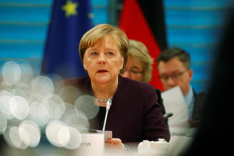 La chancelière allemande, Angela Merkel, le 3 février 2020, à Berlin.