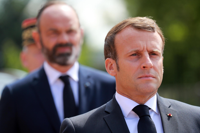 Le président Emmanuel Macron et son Premier ministre Edouard Philippe, lors de la cérémonie du 18 juin.