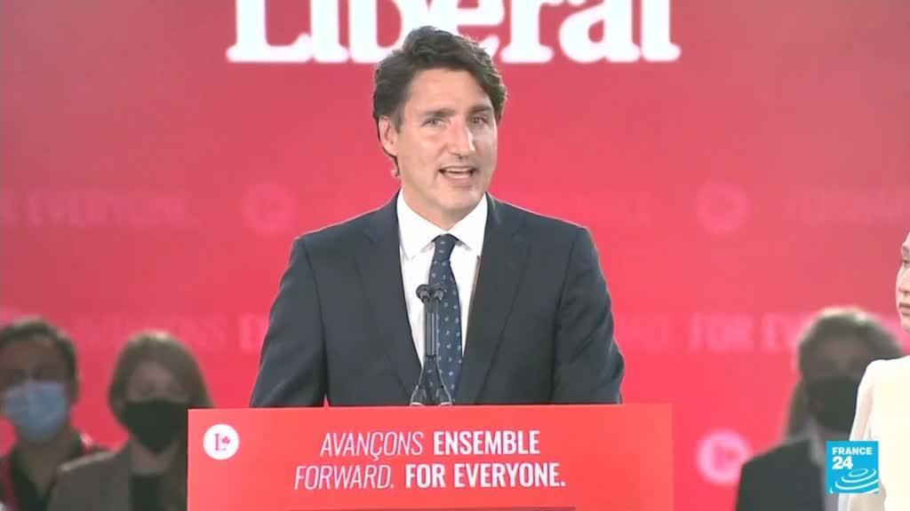 2021-09-21 13:01 Sin mayoría, el partido Liberal de Canadá ganó las elecciones generales anticipadas
