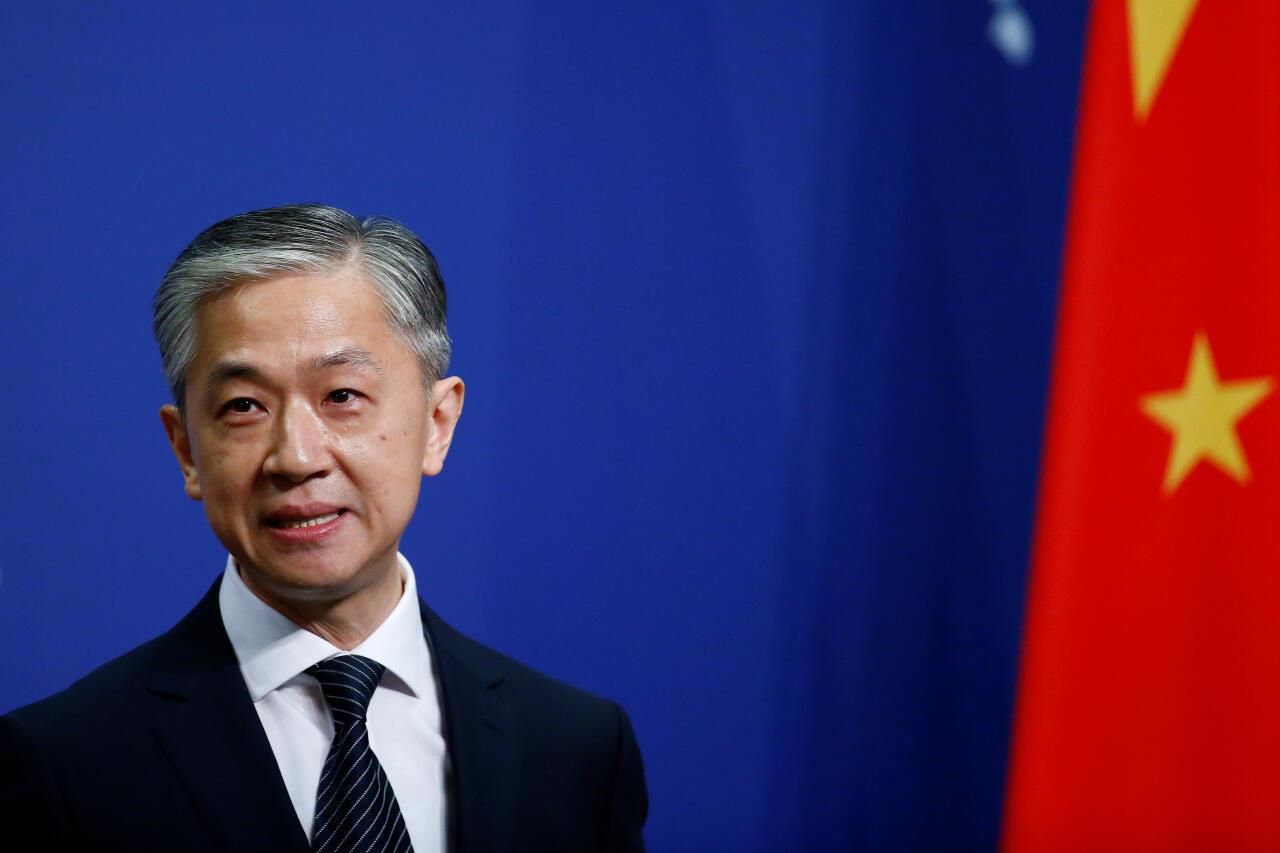 El nuevo portavoz del Ministerio de Relaciones Exteriores de China, Wang Wenbin, habla durante una conferencia de prensa en Beijing, China, el 17 de julio de 2020.