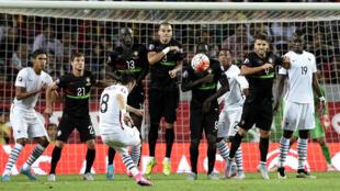 Mathieu Valbuena, buteur sur coup franc face au Portugal, a forcé la décision pour les Bleus.