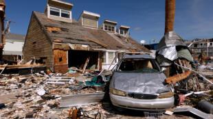 Los escombros dejados tras el huracán Michael se muestran en Mexico Beach, Florida, EE. UU., el 11 de octubre de 2018.
