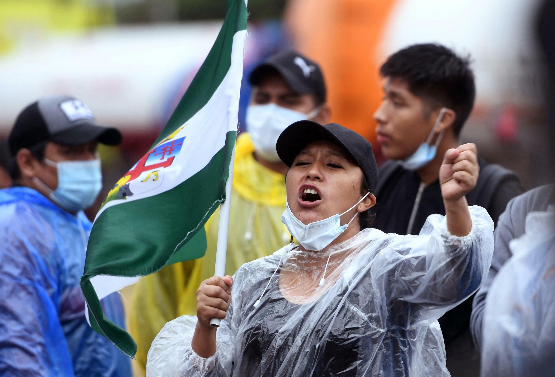 Manifestation à Santa Cruz, Bolivie