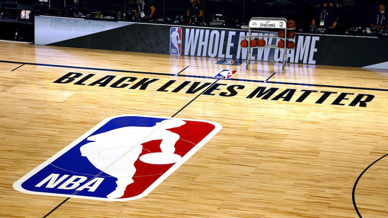 NBA empty court BLM AFP