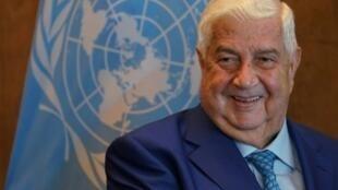 وزير الخارجية السوري وليد المعلم في الأمم المتحدة في 28 أيلول/سبتمبر 2018