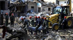Ganja azerbaiyan bombardeo