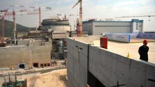 المحطة النووية في تايشان في غوانغدونغ خلال إنشائها في 10 كانون الاول/ديسمبر 2013