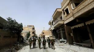 Les FDS contrôlent la ville de Raqqa, prise en octobre 2017 aux jihadistes de l'EI.