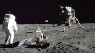 Buzz Aldrin sur la Lune le 21 juillet 1969