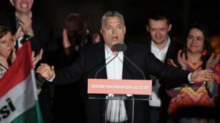Le Premier ministre sortant Viktor Orban le 8 avril 2018 à Budapest.