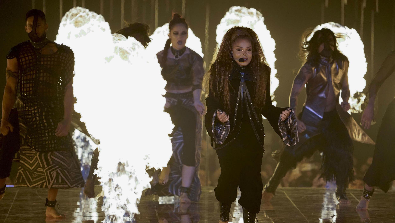 """Janet Jackson estuvo presente en el MTV Europe Music Awards 2018, España, el 4 de noviembre de 2018. La artista se hizo con el premio """"Icono global""""."""