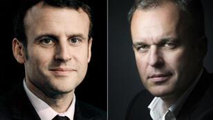 Portrait d'Emmanuel Macron et de François de Rugy réalisés en 2016 et 2015.