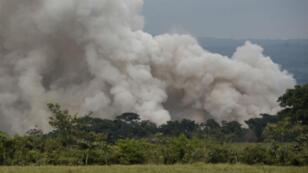 Le volcan de Fuego, au Guatemala; a expulsé le 3 juin une coulée de 8 kilomètres de lave.