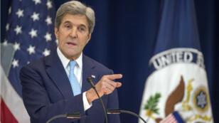 Le secrétaire d'État américain s'est expliqué sur la position américaine après le vote onusien sur une résolution demanant l'arrêt de la colonisation en Israël, le 28 décembre 2016.