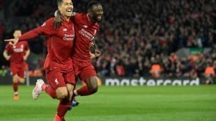 Liverpool porté par Roberto Firmino et Naby Keita, tous deux buteurs, a dominé le FC Porto à Anfield, le 9 avril 2019