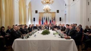 اجتماع الموقعين على الاتفاق النووي الإيراني في فيينا، الجمعة 16 آذار/مارس 2018