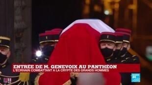 2020-11-11 18:18 Commémorations du 11-Novembre : l'écrivain combattant Maurice Genevoix entre au Panthéon
