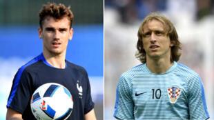 Le Français  Antoine Griezmann et le Croate Luka Modric.