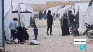 Migrantes refugiados sirios