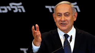 Le Premier ministre israélien Benjamin Netanyahu lors d'une conférence de presse à Jérusalem, le 1er janvier 2020.