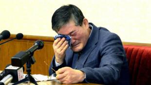 El estadounidense Kim Dong-chul, uno de los tres prisioneros de guerra liberados este 9 de mayo de 2018. Imagen de archivo, 25 de marzo de 2016.