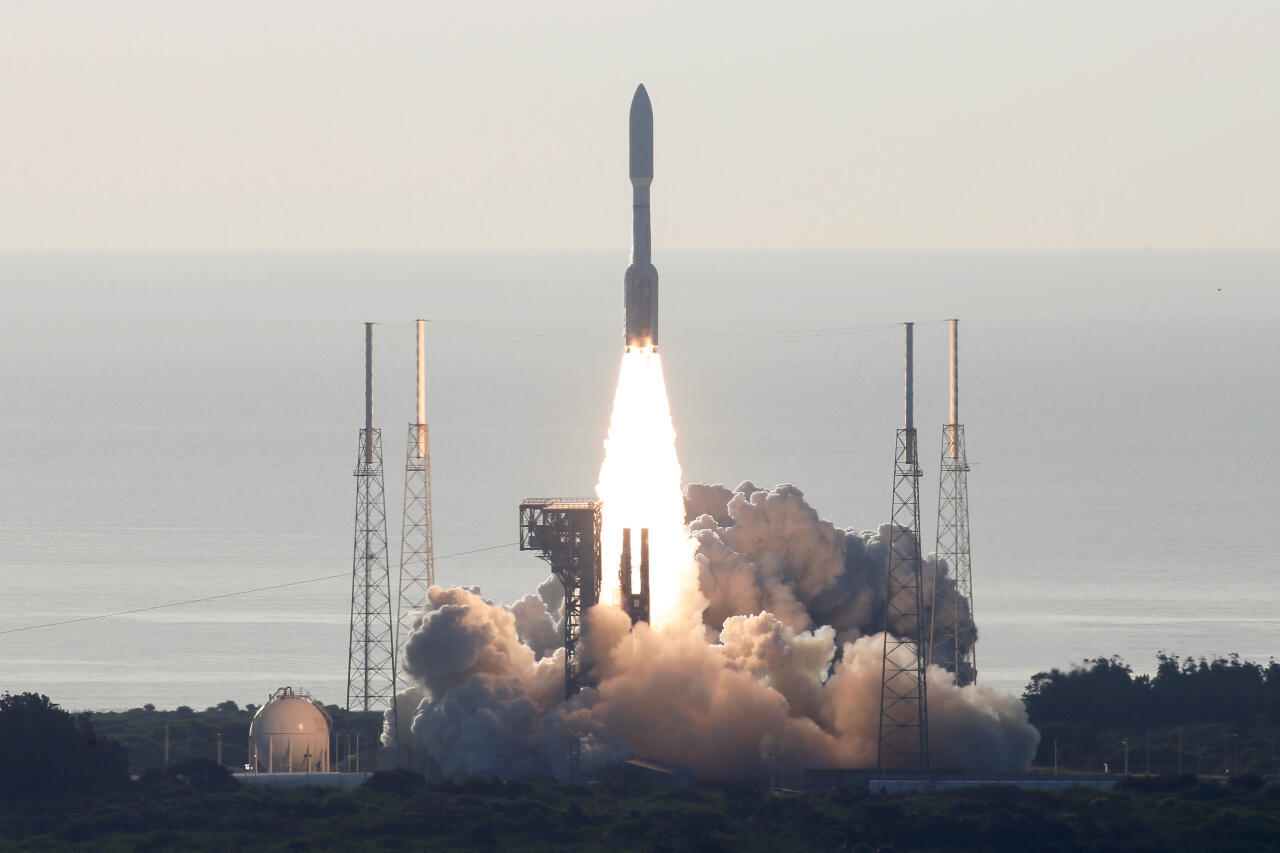 United Launch Alliance Atlas V transports the Mars 2020 Rover Perseverance at Cape Canveral on 30 July 2020.