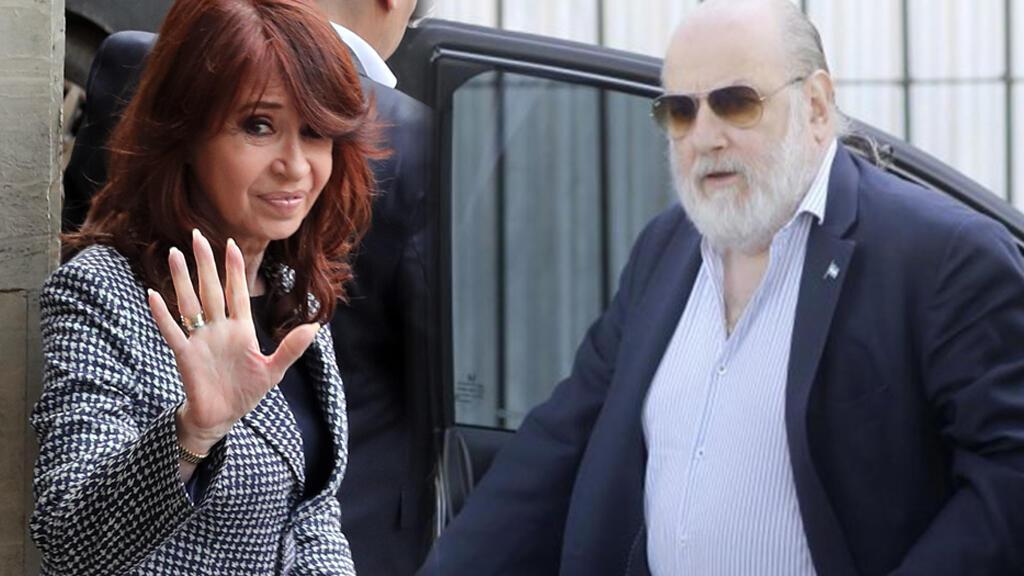 La expresidenta Cristina Fernández de Kirchner y el juez Claudio Bonadio.