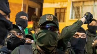 Bolivia police mutiny protests morales Cochabamba