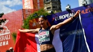 France's Clemence Calvin won a silver medal at the 2018 European Championships in Berlin