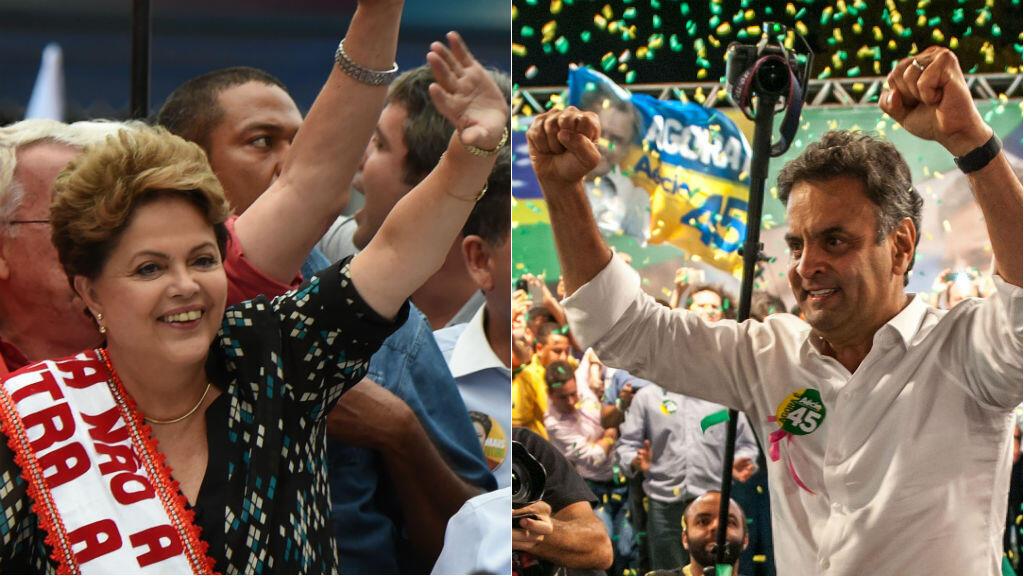 Le second tour de la présidentielle s'annonce serré entre Dilma Rousseff et Aecio Neves.