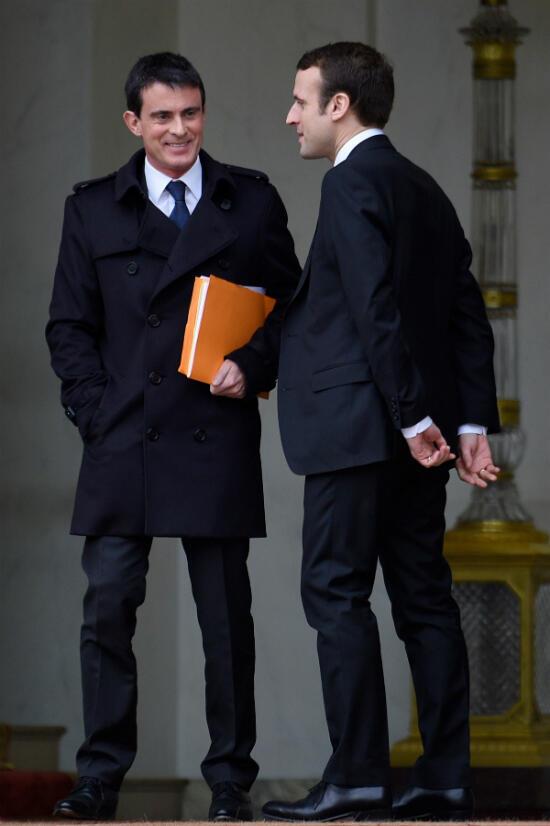Dans les premiers temps, l'entente entre les deux hommes est cordiale. Ici en décembre 2014 à la sortie d'un conseil des ministres.