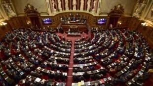 Le Sénat français, le 2 octobre 2017 à Paris.