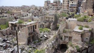 Le quartier d'Hamidiyeh à Alep, en avril 2015.