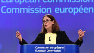 La commissaire européenne au Commerce, Cecilia Malmström, le 1er juin 2018 à Bruxelles.
